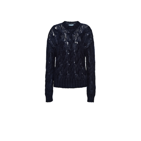 Oversized mohair wool sweater