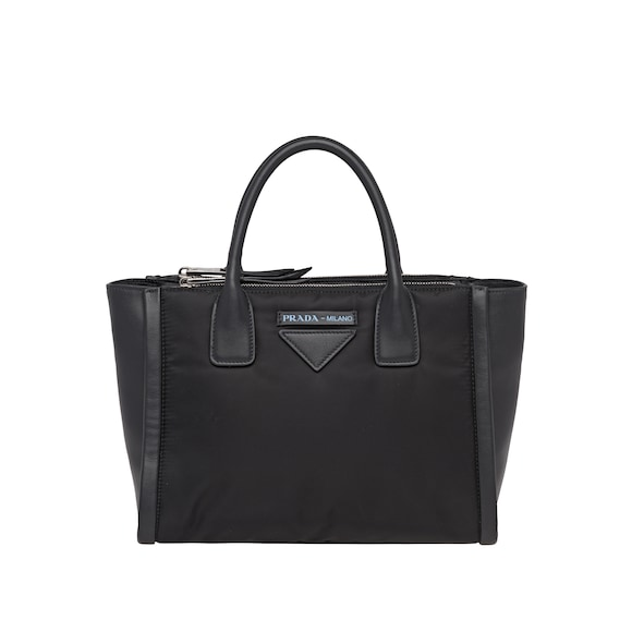 Prada Concept leather and fabric bag