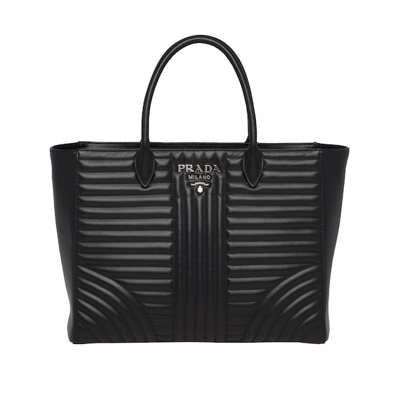 Prada Diagramme leather tote bag
