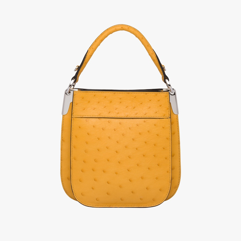 Prada Margit small ostrich leather bag