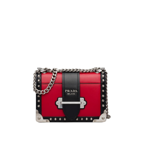 Prada Cahier studded leather bag