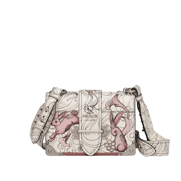 Prada Cahier printed leather bag