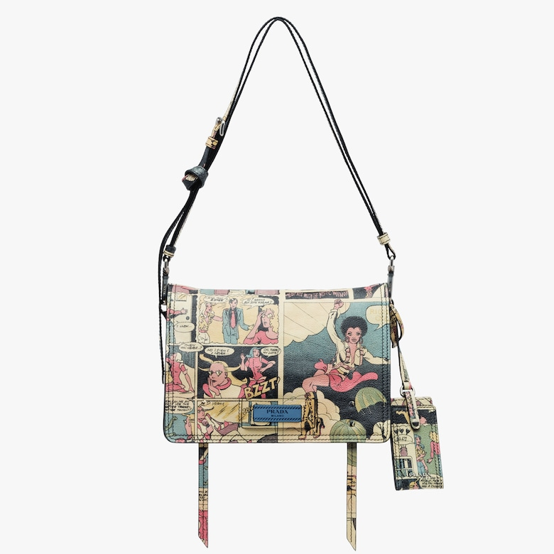 Prada Etiquette printed leather bag