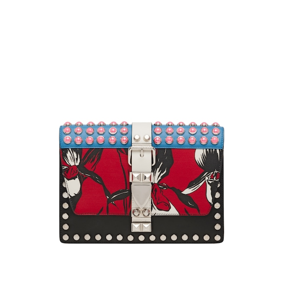 Prada Elektra printed leather bag
