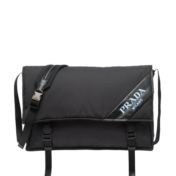 1db6bed66d3 Large nylon and leather shoulder bag