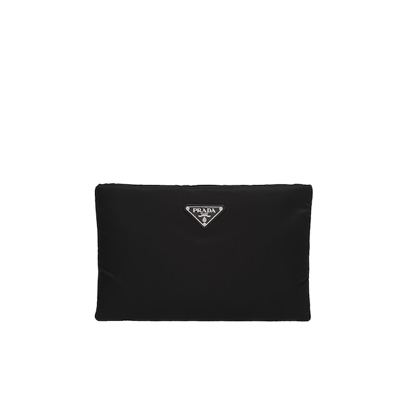 Medium Padded nylon clutch