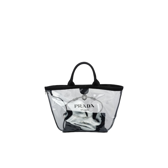 Fabric and Plexiglas handbag
