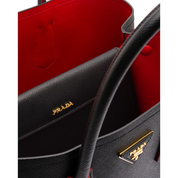 602d331d24ad2a wholesale black prada bag with red interior 684ce fea7a
