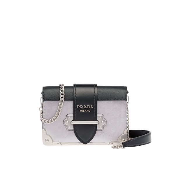 Prada Cahier calf leather bag