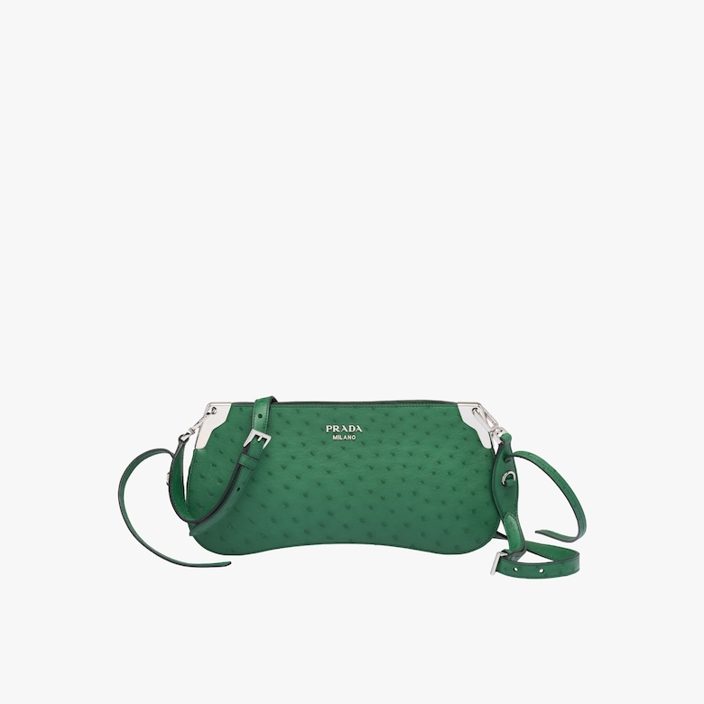 Prada Sidonie ostrich leather bag