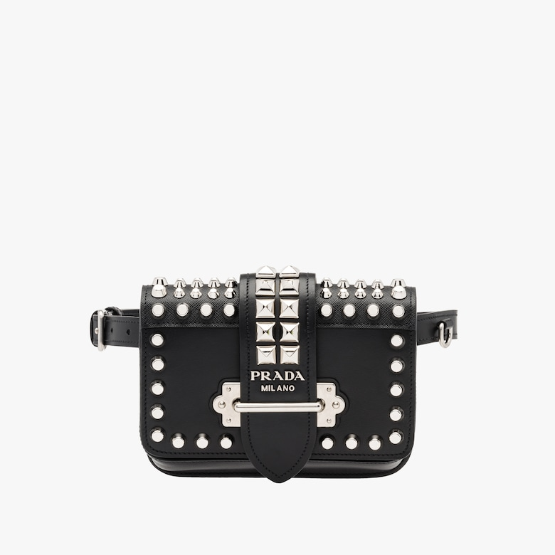 Prada Cahier leather belt bag