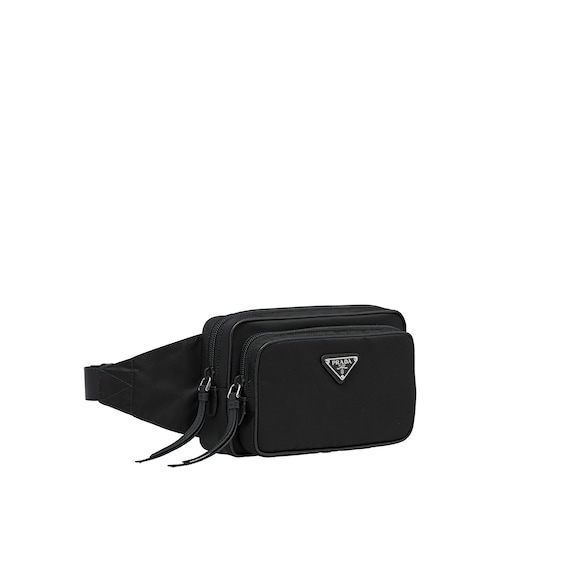 Minimalist Design And A Contemporary Atude Characterize This Nylon Belt Bag With Tone On Leather Details Enamel Triangle Logo