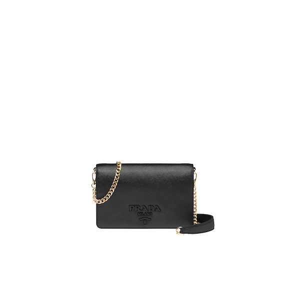 Saffiano leather shoulder bag