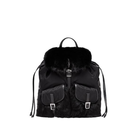 Rabbit Fur Backpack