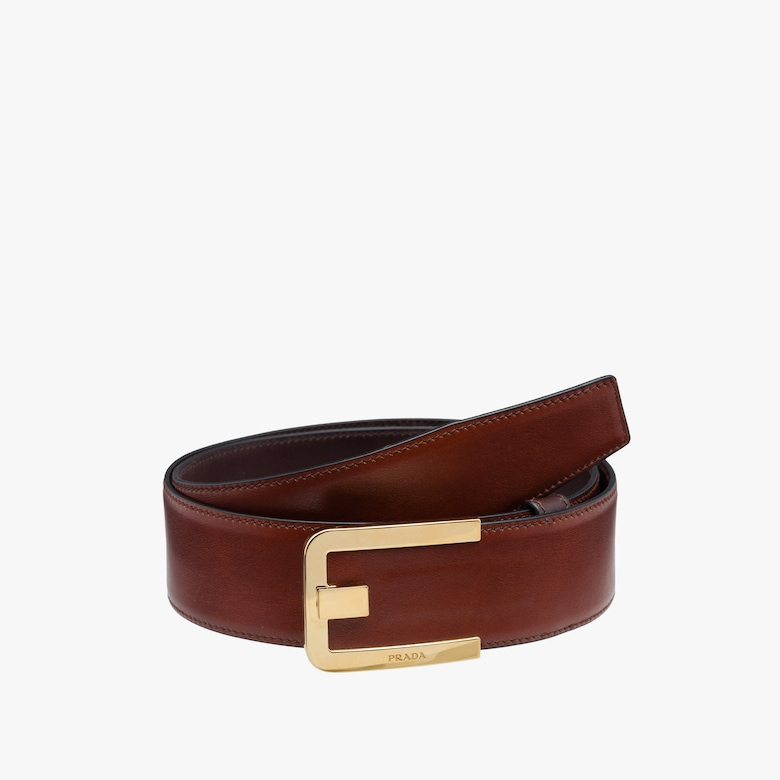 Soft calf leather belt