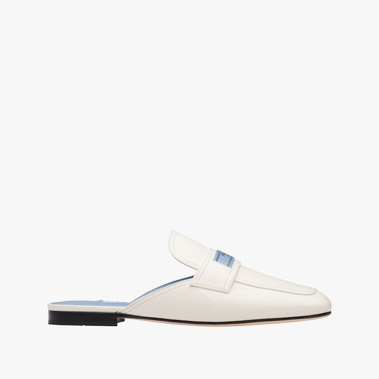 Leather moccasin mules