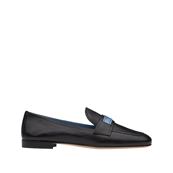 Glacé calf leather moccasins