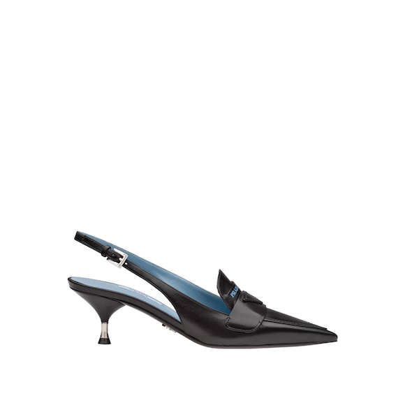 Loafer-Slingbacks aus Leder
