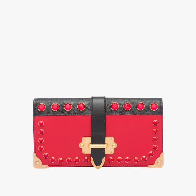 Prada Cahier leather mini-bag