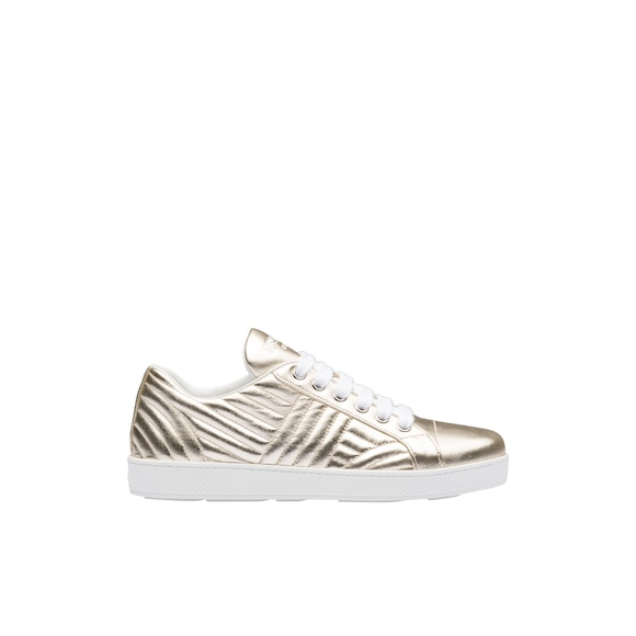 Sneakers in pelle metallizzata