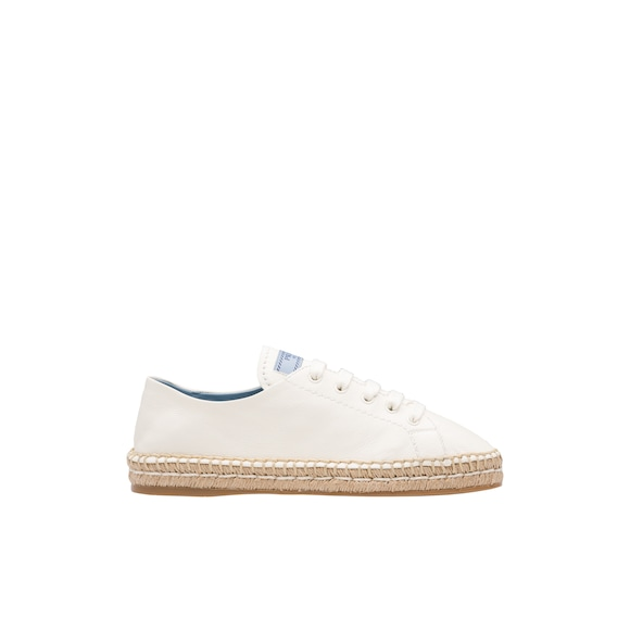 Leather espadrilles with Etiquette logo