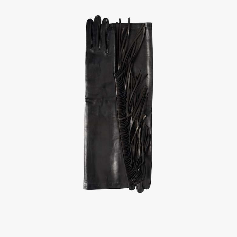Fringed Leather Gloves