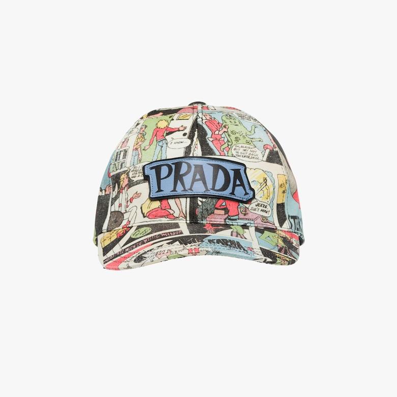 Gorra de béisbol de gabardina estampada