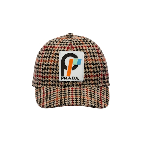 Houndstooth wool cap