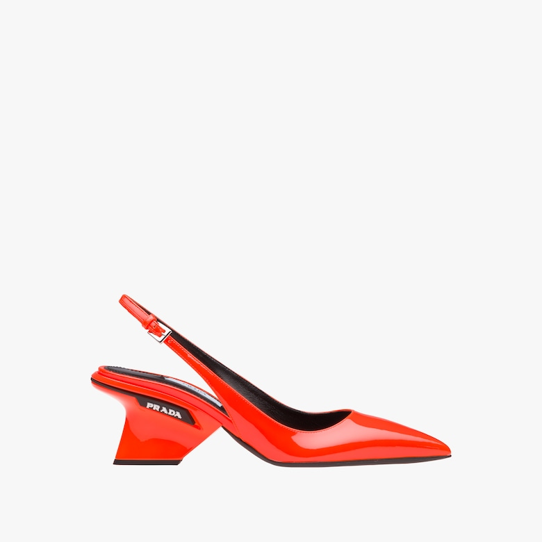 Patent leather slingbacks