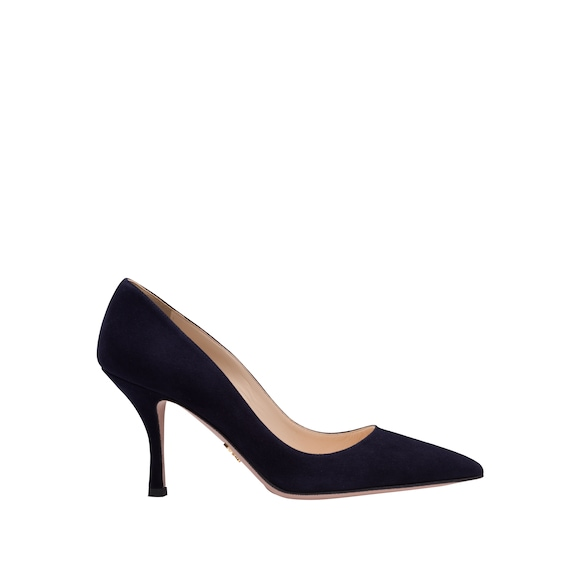 Suede pointy toe pumps