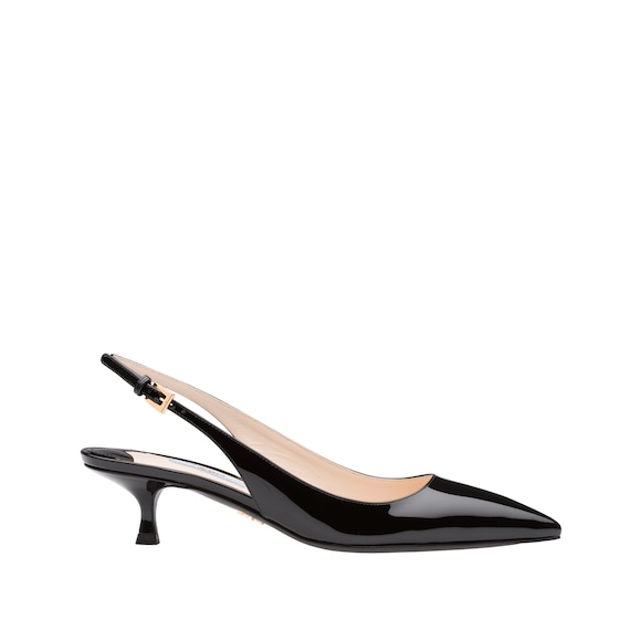 Pointy toe slingback pumps