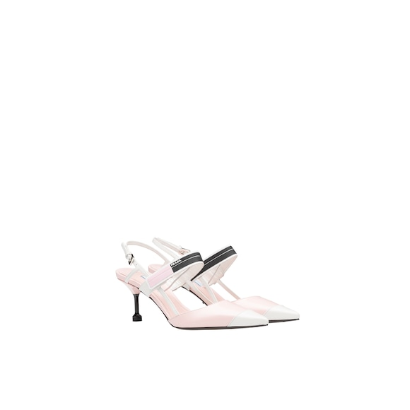 9e0e2522e The slingbacks in brushed leather characterized by a two-tone color effect  are sophisticated and modern. The strap with rubber insert and the elegant  metal ...