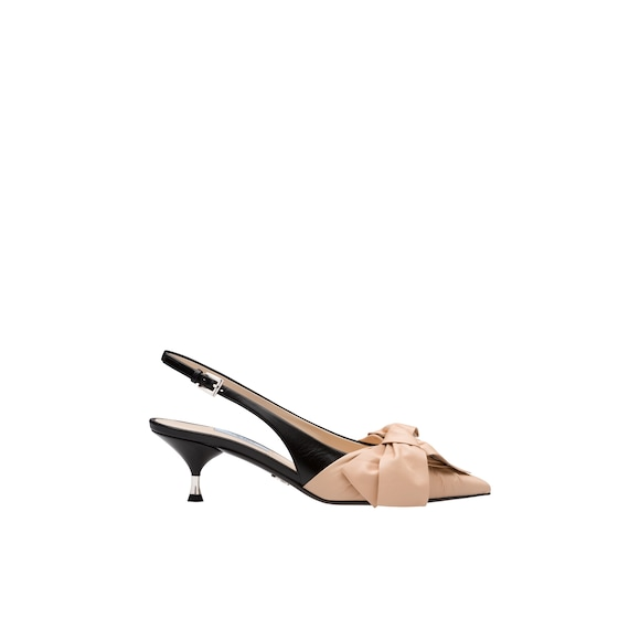 Nappa leather slingbacks