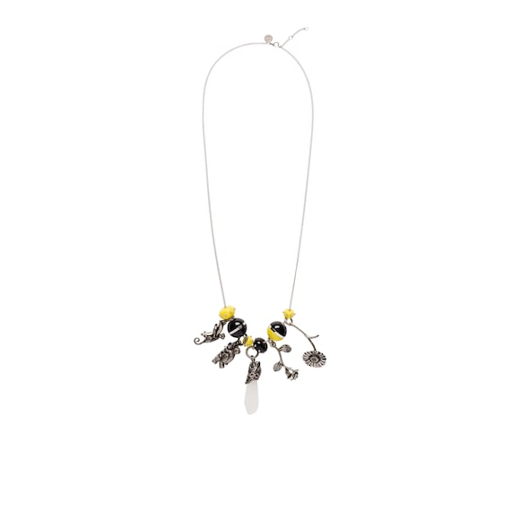 Prada Talisman Plexiglas necklace