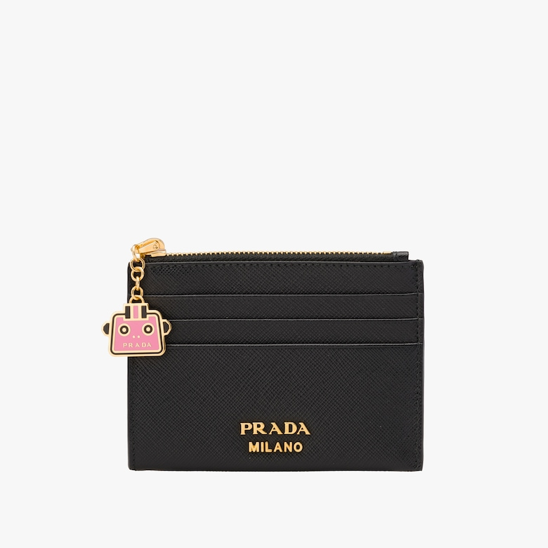 Saffiano leather credit card holder