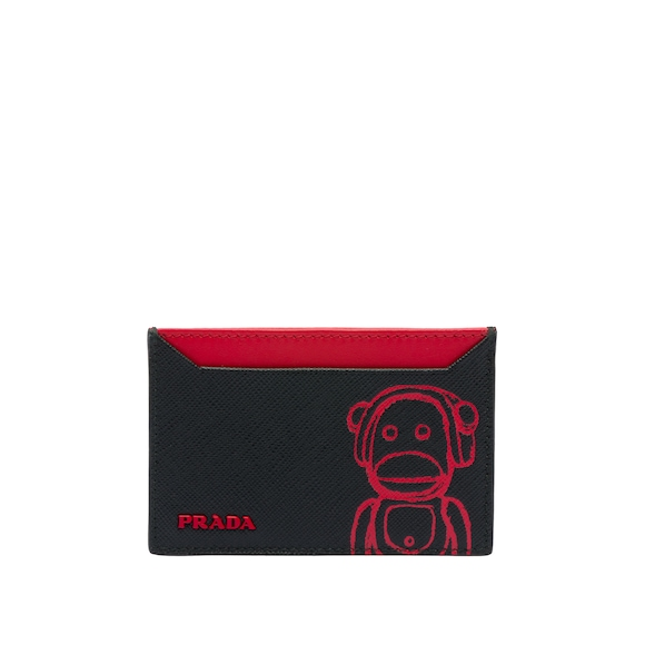 Pradamalia Saffiano leather card holder