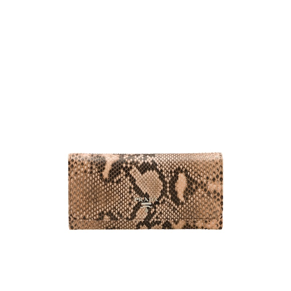 Large Python Leather Wallet