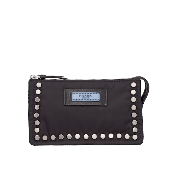 Studded Fabric Cosmetic Pouch