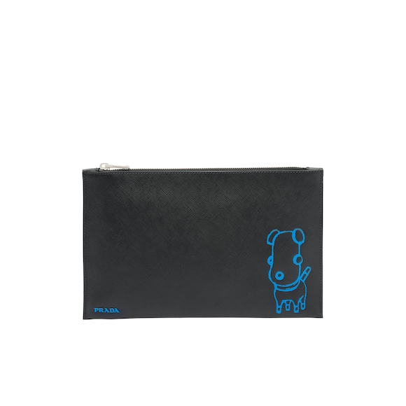 Pradamalia Saffiano leather document holder