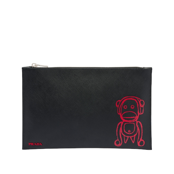 Pradamalia leather document holder