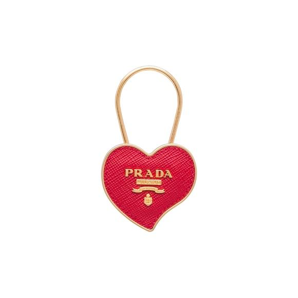 Porte-clés en cuir Saffiano et métal