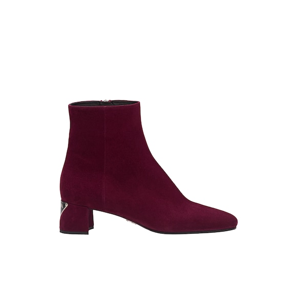 Bottines en veau velours