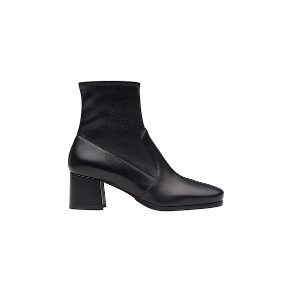 Bottines en cuir nappa