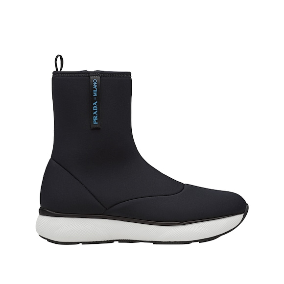 Neoprene high-top sneakers
