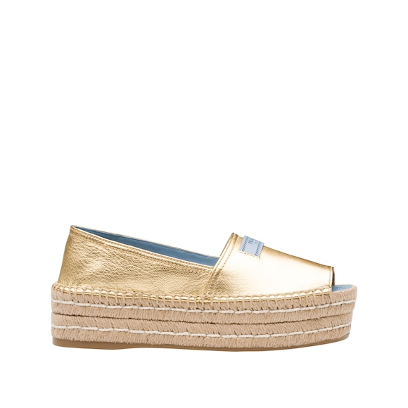 Glacé calf leather espadrilles