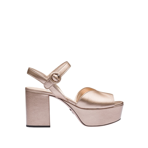 Mordoré madras leather  platform sandals