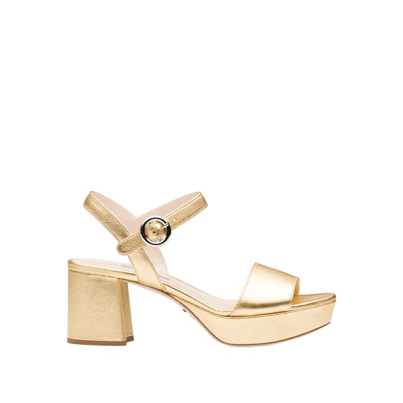 Calf leather platform sandals