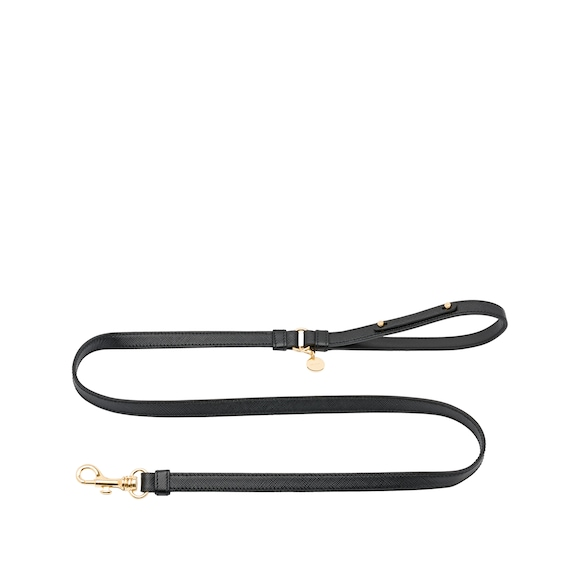 Saffiano leather leash