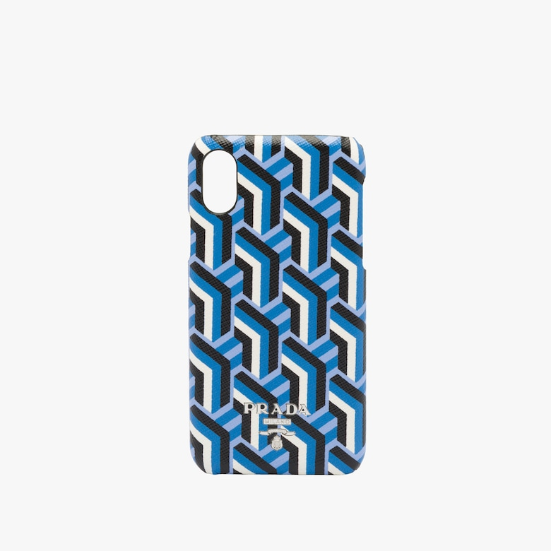 Saffiano leather cover for the iPhone X and XS