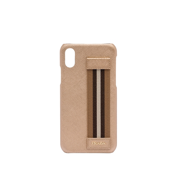 Saffiano leather cover for iPhone X